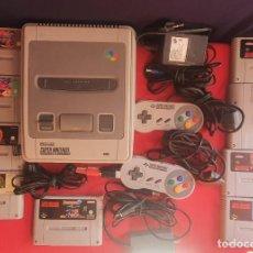 Videojuegos y Consolas: LOTE DE CONSOLA NINTENDO SUPER NINTENDO NES CON JUEGOS +2 MANDOS Y ANTENA Y EL CARGADOR SIN PROBAR.. Lote 277615148