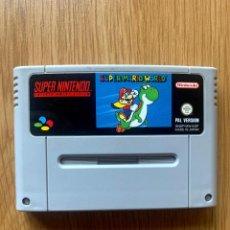 Videojuegos y Consolas: SUPER MARIO WORLD - JUEGO PARA CONSOLAS SUPER NINTENDO - SNES - CARTUCHO Y MANUAL - PAL. Lote 286733188