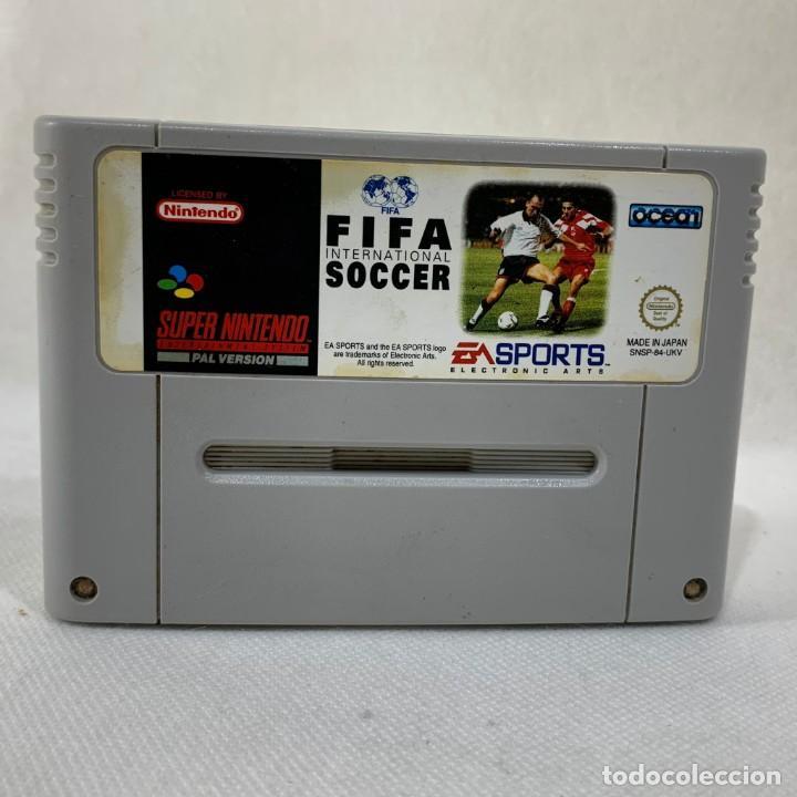 VIDEOJUEGO NINTENDO - SUPER NINTENDO - FIFA INTERNACIONAL SOCCER - SOLO CARTUCHO - UKV - PAL (Juguetes - Videojuegos y Consolas - Nintendo - SuperNintendo)