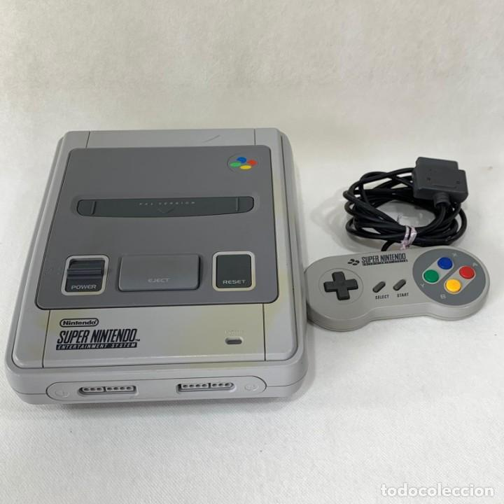 CONSOLA SUPER NINTENDO ENTERTAINMENT SYSTEM - SUPER NES - AÑO 1992 - FUNCIONA (Juguetes - Videojuegos y Consolas - Nintendo - SuperNintendo)