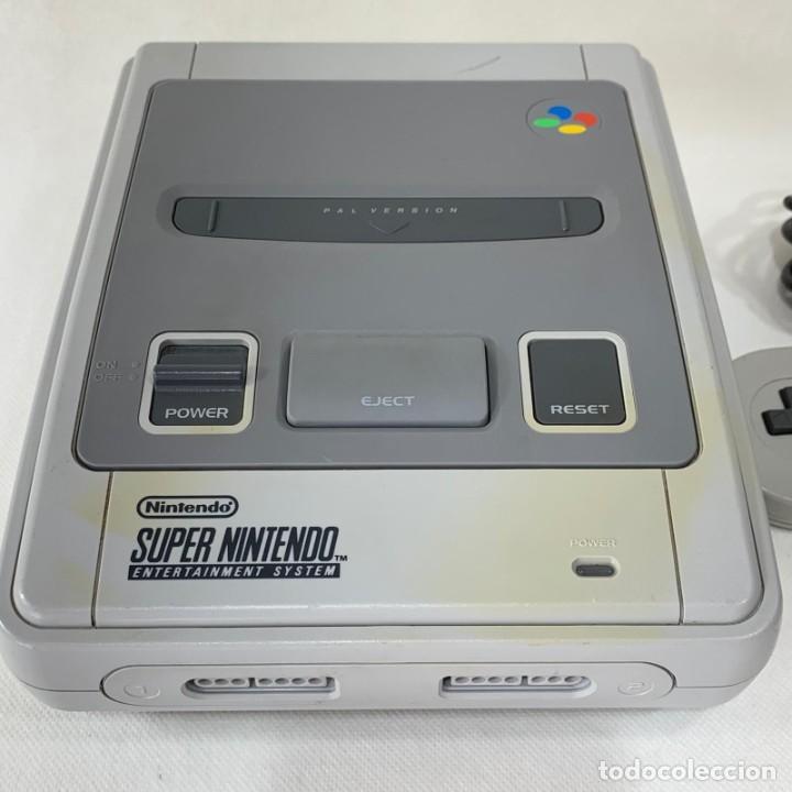 Videojuegos y Consolas: CONSOLA SUPER NINTENDO ENTERTAINMENT SYSTEM - SUPER NES - AÑO 1992 - FUNCIONA - Foto 2 - 287596578