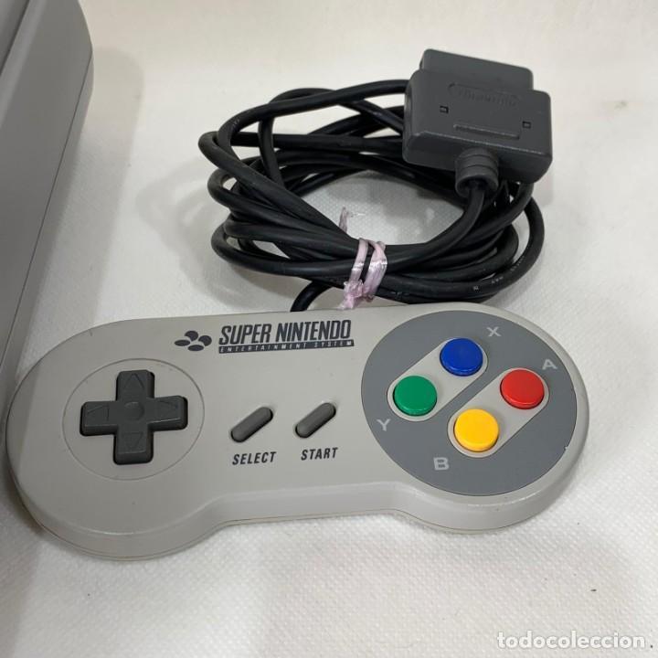 Videojuegos y Consolas: CONSOLA SUPER NINTENDO ENTERTAINMENT SYSTEM - SUPER NES - AÑO 1992 - FUNCIONA - Foto 3 - 287596578