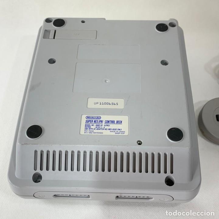 Videojuegos y Consolas: CONSOLA SUPER NINTENDO ENTERTAINMENT SYSTEM - SUPER NES - AÑO 1992 - FUNCIONA - Foto 4 - 287596578