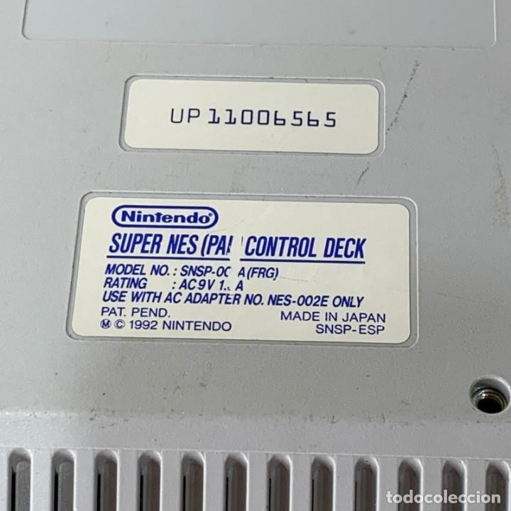 Videojuegos y Consolas: CONSOLA SUPER NINTENDO ENTERTAINMENT SYSTEM - SUPER NES - AÑO 1992 - FUNCIONA - Foto 5 - 287596578