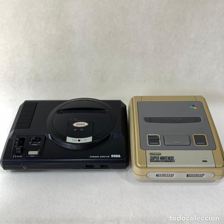 LOTE DOS CONSOLAS - NINTENDO SUPER NINTENDO Y SEGA 16 BIT (Juguetes - Videojuegos y Consolas - Nintendo - SuperNintendo)