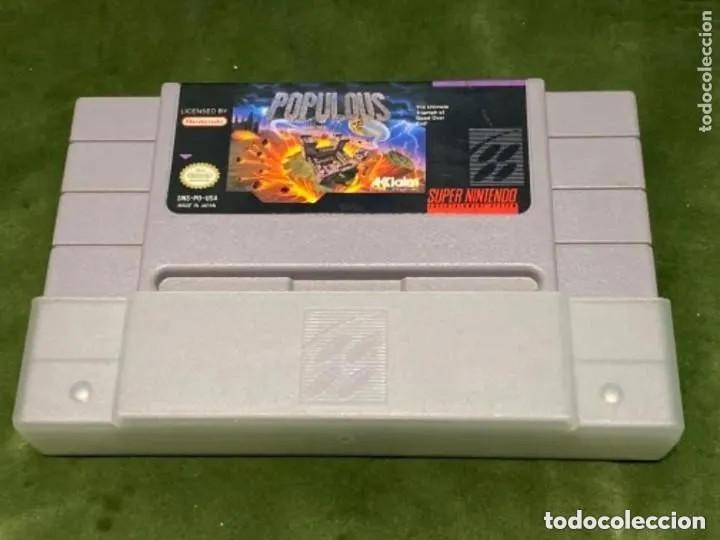 ANTIGUO JUEGO SUPER NINTENDO POPULOUS (Juguetes - Videojuegos y Consolas - Nintendo - SuperNintendo)
