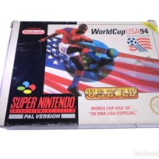 Videojuegos y Consolas: WORLD CUP USA 94 - JUEGO SNES SUPERNINTENDO - COMPLETO. Lote 288362603