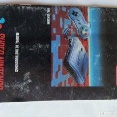 Videojuegos y Consolas: MANUAL DE INSTRUCCIONES SNES SUPER NINTENDO PAL-ESPAÑA ORIGINAL 100%. Lote 288718228