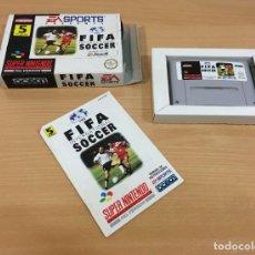 Videojuegos y Consolas: JUEGO SUPER NINTENDO PAL - FÚTBOL FIFA INTERNATIONAL SOCCER DE EA SPORTS / OCEAN (1994). Lote 288740843