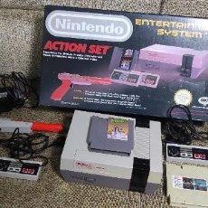 Videojuegos y Consolas: NINTENDO PAQUETE ACTION SET NES. Lote 289626743