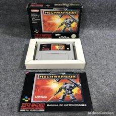 Videojuegos y Consolas: MECHWARRIOR SUPER NINTENDO SNES. Lote 289938938
