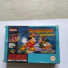 Videojuegos y Consolas: THE MAGICAL QUEST SNES SUPER NINTENDO PAL-ESPAÑA SOLO CAJA ORIGINAL. Lote 290643073
