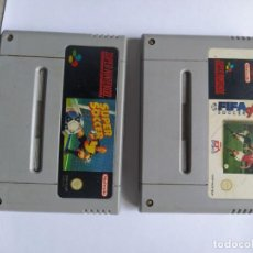 Videojuegos y Consolas: LOTE 2 JUEGOS SUPER SOCCER + FIFA 96 SOLO CARTUCHOS ORIGINALES PAL-EUROPA SNES SUPER NINTENDO. Lote 290646143
