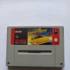Videojuegos y Consolas: LAMBORGHINI SNES SUPER NINTENDO SOLO CARTUCHO ORIGINAL PAL-EUROPA. Lote 290646308