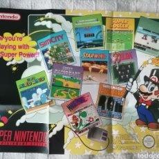 Videojuegos y Consolas: PÓSTER SUPER NINTENDO VIDEOJUEGOS AÑOS 90. Lote 293206638