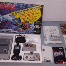 Videojuegos y Consolas: CONSOLA SNES EN CAJA. Lote 294365958