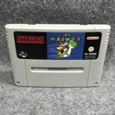 Videojuegos y Consolas: SUPER MARIO WORLD SUPER NINTENDO SNES. Lote 295476233