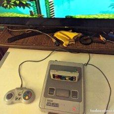 Videojuegos y Consolas: CONSOLA SUPER NINTENDO SNES, MANDO , CABLES Y JUEGO FLASHBACK. Lote 295872983
