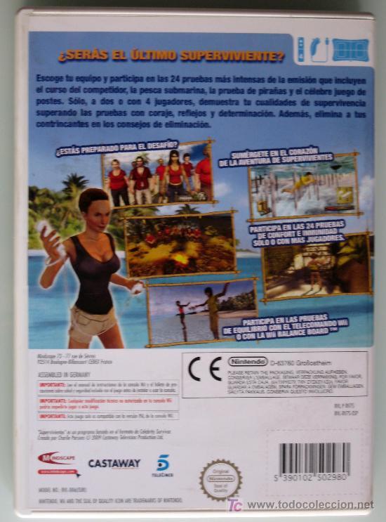 Videojuegos y Consolas: SUPERVIVIENTES - VIDEOJUEGO - WII - +3 - HASTA 4 JUGADORES - PAL - Foto 2 - 27515247