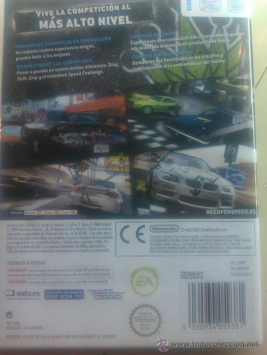 Videojuegos y Consolas: NEED FOR SPEED PROSTREET / JUEGO ORIGINAL PARA NINTENDO Wii / - Foto 2 - 120632503