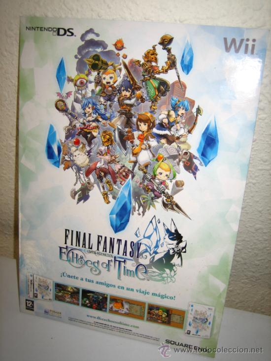 Videojuegos y Consolas: FINAL FANTASY CRYSTAL CHRONICLES ECHOES OF TIME -CARTEL PUBLICITARIO - Foto 1 - 35202835