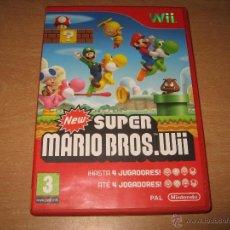 Videojuegos y Consolas: NEW SUPER MARIO BROS NINTENDO WII PAL ESPAÑA COMPLETO. Lote 43105449