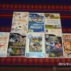 Videojuegos y Consolas: WII SUPER MARIO GALAXY POWER TENNIS POKÉMON BATTLEREVOLUTION CARNIVAL JUEGOS FERIA COCOTO MAGIC ..... Lote 47359180