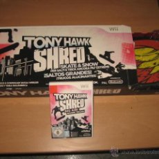 Videojuegos y Consolas: 2 JUEGOS TONY HAWK SHRED + DOWNHILL JAM CON TABLA PARA NINTENDO WII SKATE NUEVO. Lote 47645445
