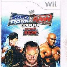 Videojuegos y Consolas: MANUAL NINTENDO WII SMACK RAW 2008. Lote 47780444