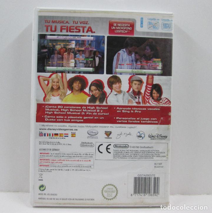Videojuegos y Consolas: SING IT HIG SCHOOL MUSICAL 3 NINTENDO WII - Foto 2 - 65690282