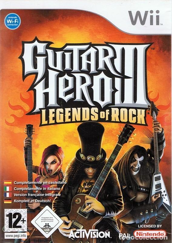 GUITAR HERO III LEGENDS OF ROCK NINTENDO WII (Juguetes - Videojuegos y Consolas - Nintendo - Wii)
