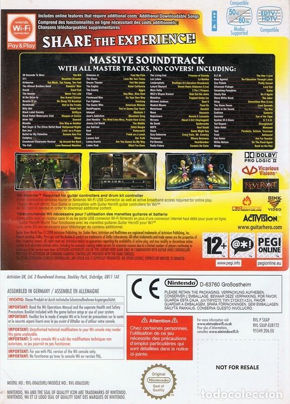 Videojuegos y Consolas: GUITAR HERO WORLD TOUR - Foto 2 - 69681477