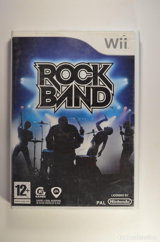 JUEGO NINTENDO WII ROCK BAND ROCKBAND MTV GAMES MUSICAL SIN GUITARRA VERSIÓN PAL ESPAÑA 2008 (Juguetes - Videojuegos y Consolas - Nintendo - Wii)