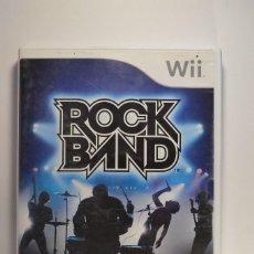 Videojuegos y Consolas: JUEGO NINTENDO WII ROCK BAND ROCKBAND MTV GAMES MUSICAL SIN GUITARRA VERSIÓN PAL ESPAÑA 2008. Lote 78880217