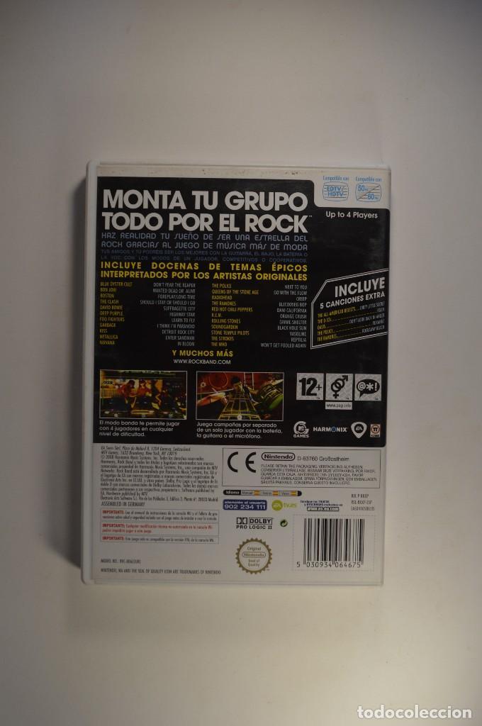 Videojuegos y Consolas: JUEGO NINTENDO WII ROCK BAND ROCKBAND MTV GAMES MUSICAL SIN GUITARRA VERSIÓN PAL ESPAÑA 2008 - Foto 2 - 78880217
