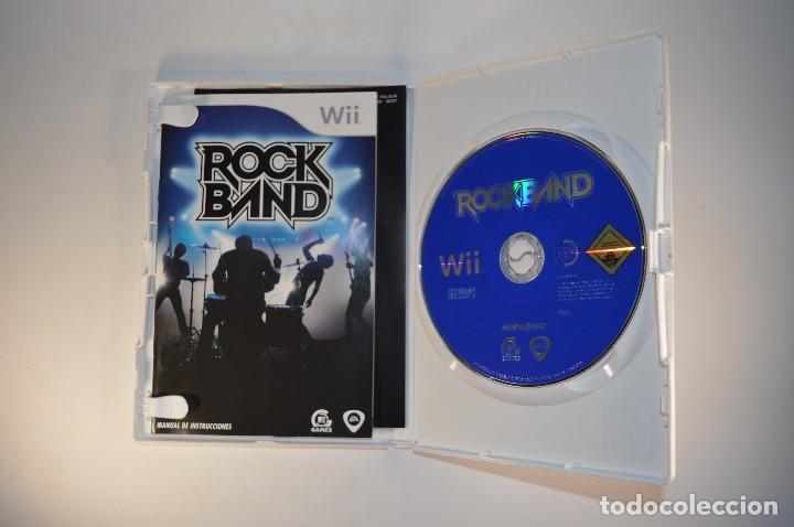 Videojuegos y Consolas: JUEGO NINTENDO WII ROCK BAND ROCKBAND MTV GAMES MUSICAL SIN GUITARRA VERSIÓN PAL ESPAÑA 2008 - Foto 3 - 78880217