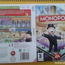 Videojuegos y Consolas: MONOPOLY (CARATULA). Lote 79752585
