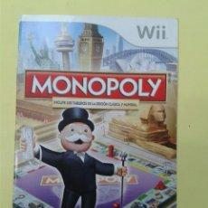 Videojuegos y Consolas: MONOPOLY (INSTRUCCIONES). Lote 93400195