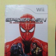 Videojuegos y Consolas: SPIDERMAN (INSTRUCCIONES). Lote 93400435