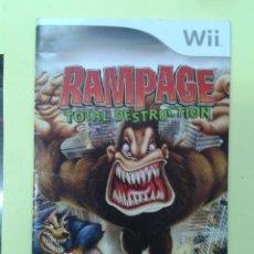 Videojuegos y Consolas: RAMPAGE (INSTRUCCIONES). Lote 93400660