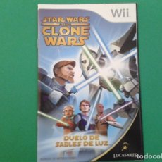 Videojuegos y Consolas: STAR WARS THE CLONE WARS (MANUAL). Lote 96903819