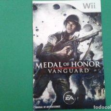 Videojuegos y Consolas: MEDAL OF HONOR VANGUARD (MANUAL). Lote 96903903