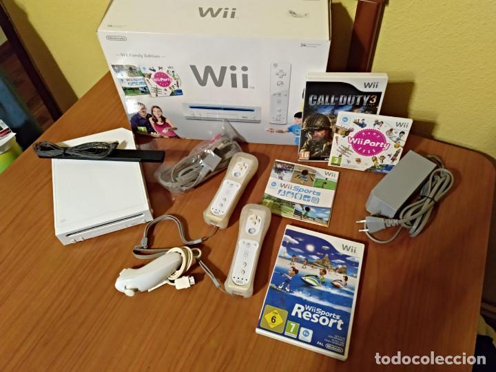 CONSOLA WII COMPLETA +4 JUEGOS.CALL DUTY3- PARTY-SPORTS RESORT Y WII SPORTS (Juguetes - Videojuegos y Consolas - Nintendo - Wii)