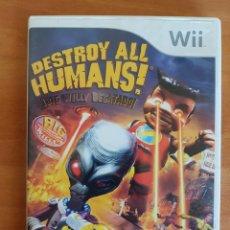 Videojuegos y Consolas: WII DESTROY ALL HUMANS! NTENDO PAL CASTELLANO. Lote 101145083