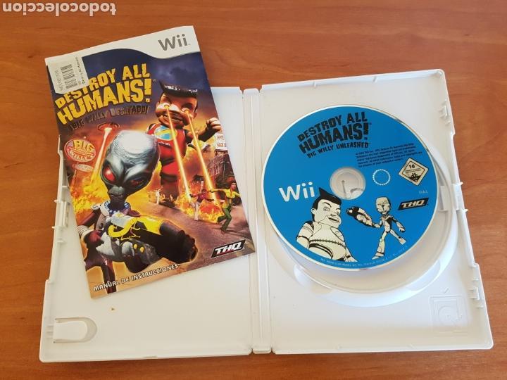 Videojuegos y Consolas: Wii DESTROY ALL HUMANS! NTENDO PAL CASTELLANO - Foto 2 - 101145083