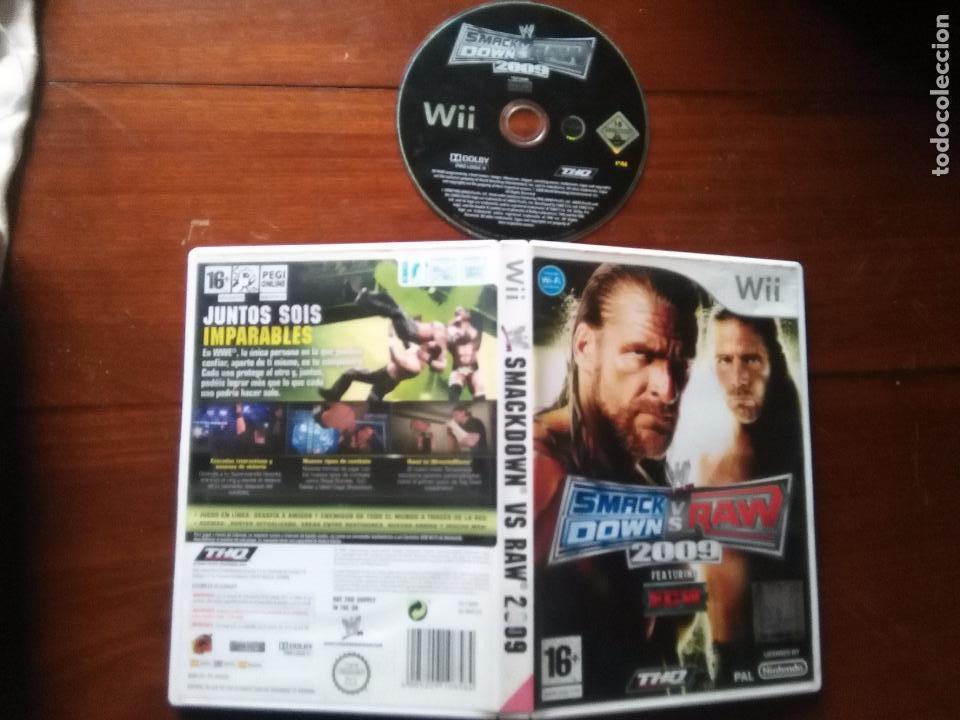 JUEGO NINTENDO WII - SMACK DOWN VS RAW 2009 FEATURING , THQ PAL , (Juguetes - Videojuegos y Consolas - Nintendo - Wii)
