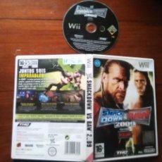 Videojuegos y Consolas: JUEGO NINTENDO WII - SMACK DOWN VS RAW 2009 FEATURING , THQ PAL , . Lote 107878995