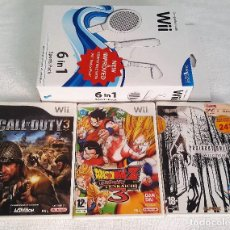 Videojuegos y Consolas: LOTE TRES JUEGOS WII DRAGON BALL Z TENKAICHI 3, CALL OF DUTY 3, RESIDENT EVIL 4 Y SPORTS PACK 6 IN 1. Lote 109543031