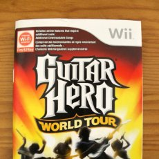 Videojuegos y Consolas: NINTENDO WII - GUITAR HERO WORLD TOUR MANUAL DE INSTRUCCIONES . Lote 110003323
