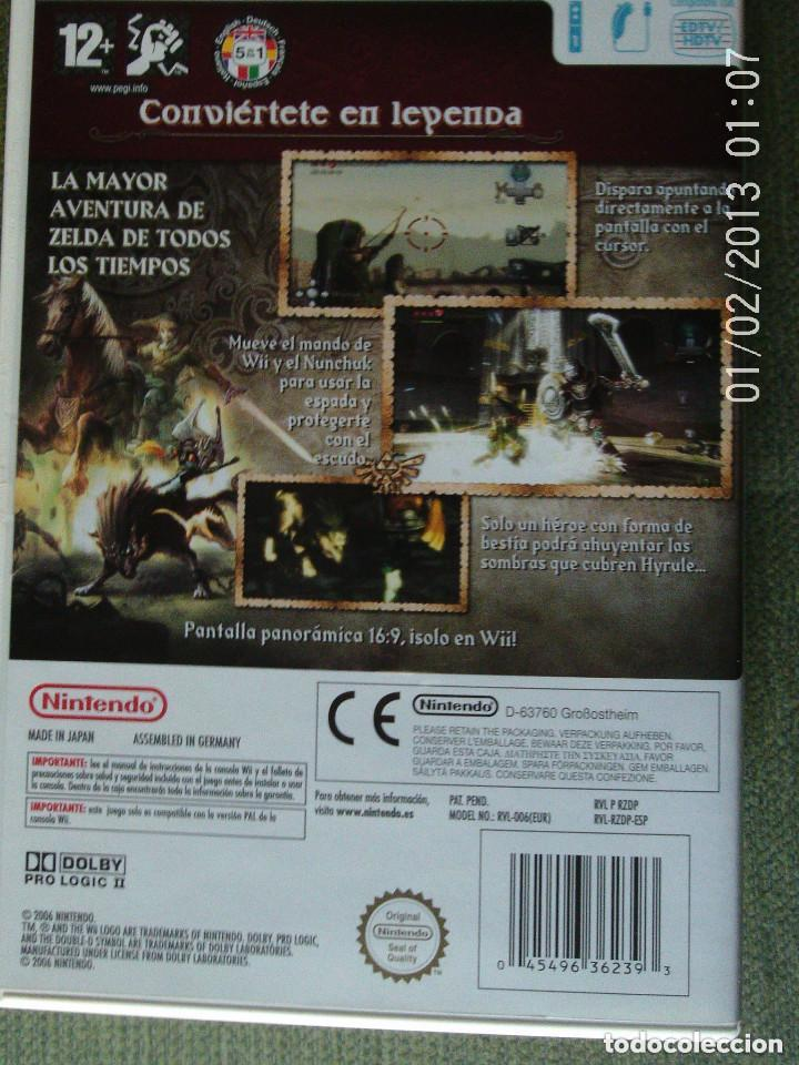 Videojuegos y Consolas: JUEGO WII THE LEGEND OF ZELDA TWILIGHT PRINCESS - Foto 3 - 111872299